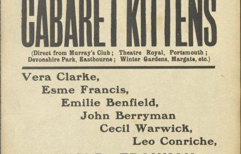 Poster for 'The Cabaret Kittens'