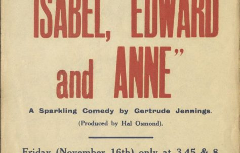 Poster for 'Isabel, Edward and Anne' and 'The Ruined Lady'