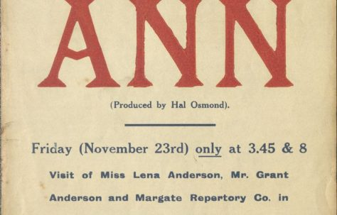 Poster for 'Ann' and 'The Second Mrs Tanqueray'