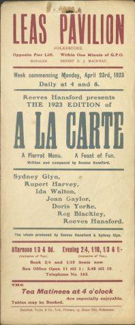 Poster for 'A La Carte'