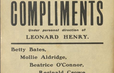 Poster for 'Compliments'