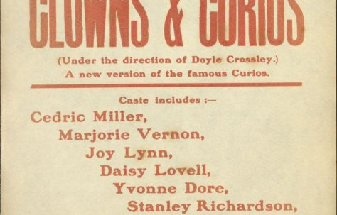 Poster for 'Clowns & Curios'