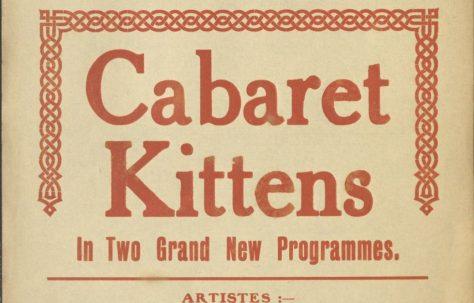 Theatre Poster for 'Cabaret Kittens'