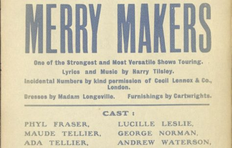 Theatre Poster for 'Merrymakers'