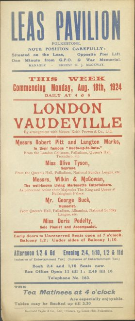 Theatre Poster for 'London Vaudeville'