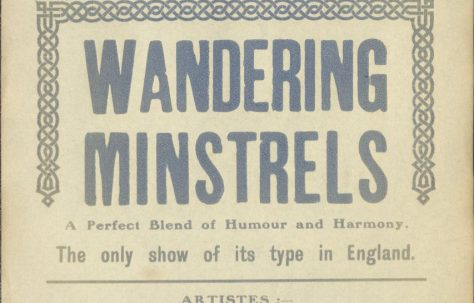 Theatre poster for 'Wandering Minstrels'