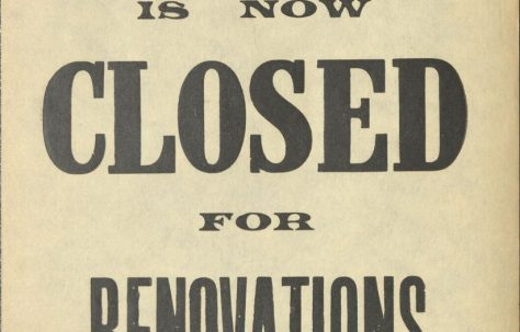 Poster 'Closed for Renovations'