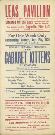 Poster for ' The Cabaret Kittens'