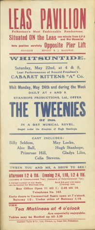 Poster for  'Cabaret Kittens' and 'The Tweenies'