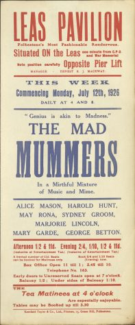 Poster for ' The Mad Mummers'