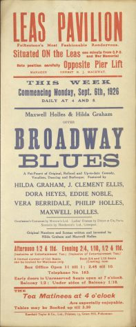Poster for 'Broadway Blues'