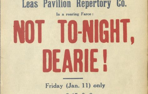 Poster for 'Not To-Night Dearie!' and 'Ghosts'