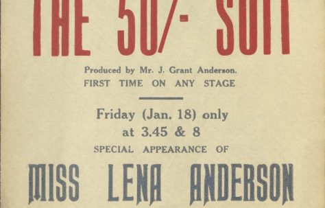 Poster for 'The 50/- Suit' and 'The Passionate Prince'
