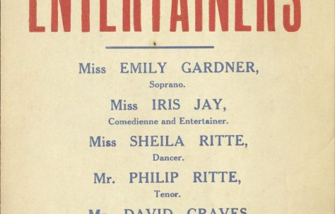 Poster for 'Philip Ritte's Entertainers'