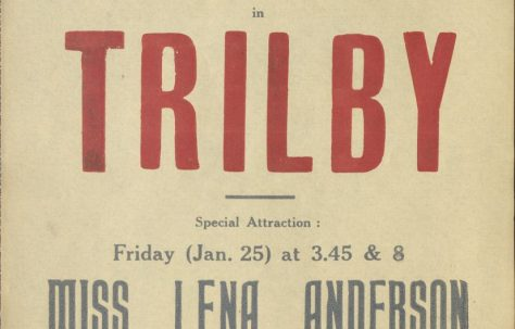 Poster for 'Trilby' and 'The Romantic Age'