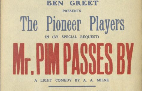 Poster for 'Mr Pim Passes By'