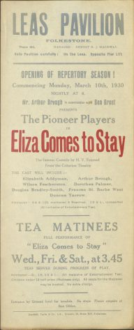 Eliza Comes To Stay