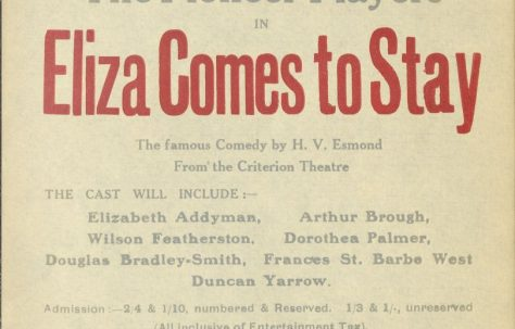 Poster for 'Eliza Comes to Stay'