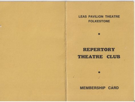 Membership Cards for the Repertory Theatre club