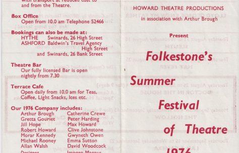 Leaflet for Summer Festival  of  Theatre 1976