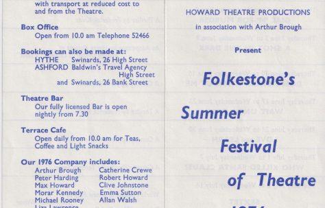 Leaflet for Summer Festival Theatre
