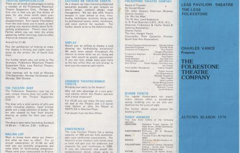 Leaflet for  Autumn Season 1979