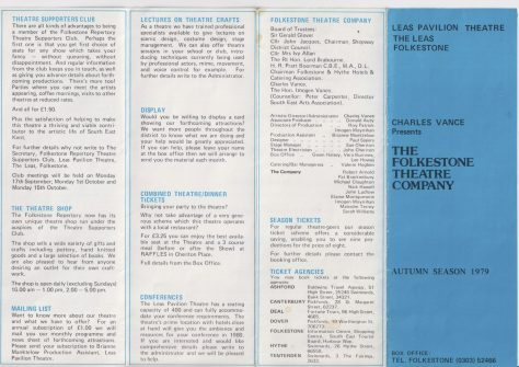 Leaflet for  Autumn Season 1979
