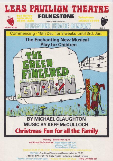 Flyer for 'The Greenfingered Goblin'