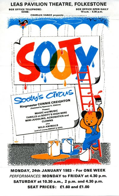 Flyer for 'Sooty's Circus'