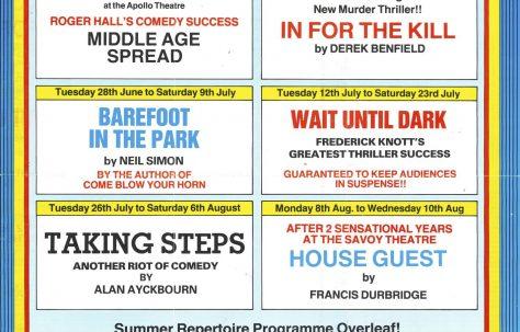 Leaflet for Summer  Season  1983
