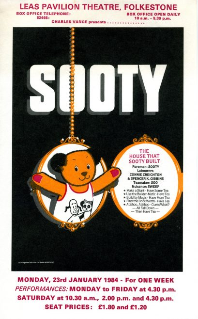 Flyer for 'The House that Sooty Built'