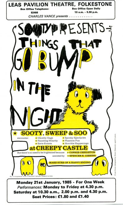 Flyer for Sooty Presents 'Things that go Bump in the Night'