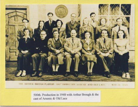 Photograph of cast of 'Arsenic and Old lace'
