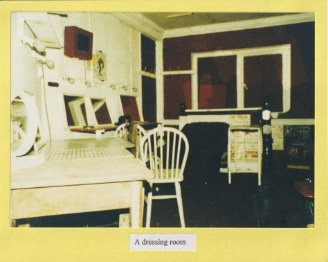 Photograph of a dressing room
