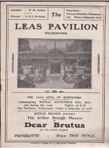 Programme for 'Dear Brutus'