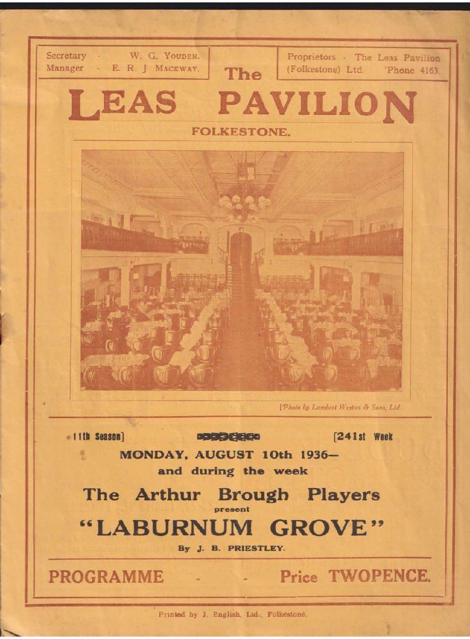 Programme for 'Laburnum Grove'