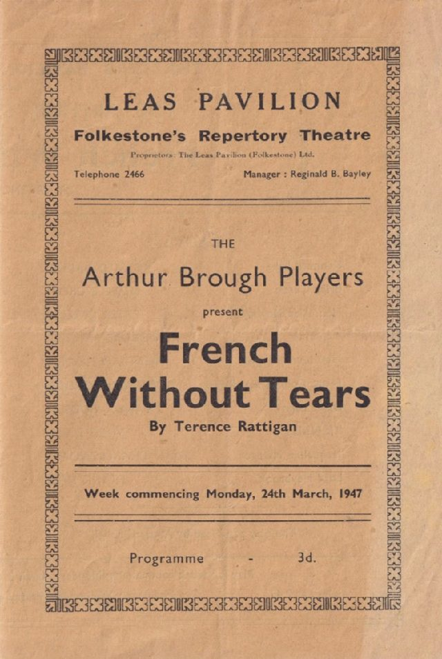Programme for 'French Without Tears'
