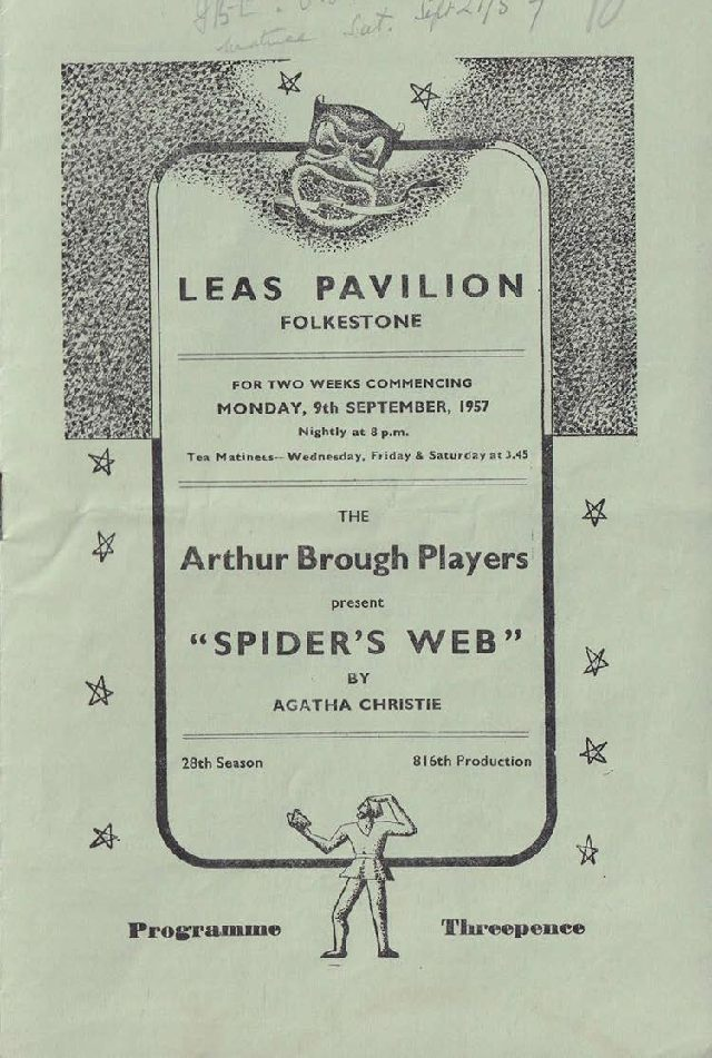 Programme for 'Spider's Web'