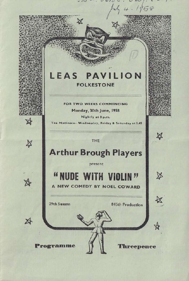 Programme for 'Nude with Violin'