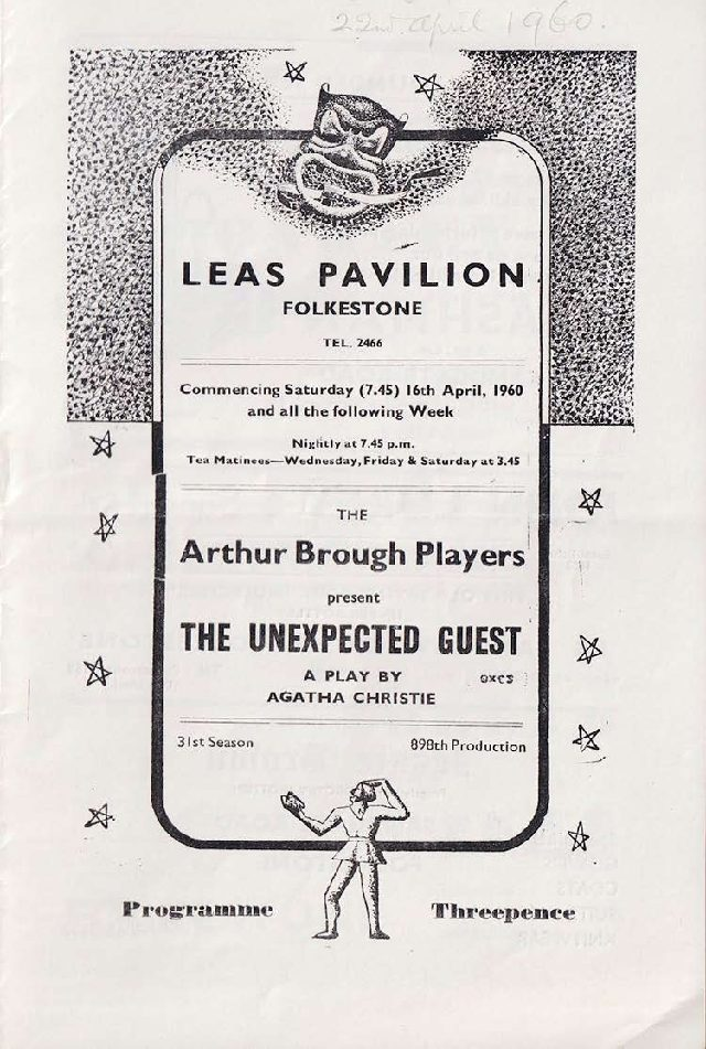 Programme for 'The Unexpected Guest'