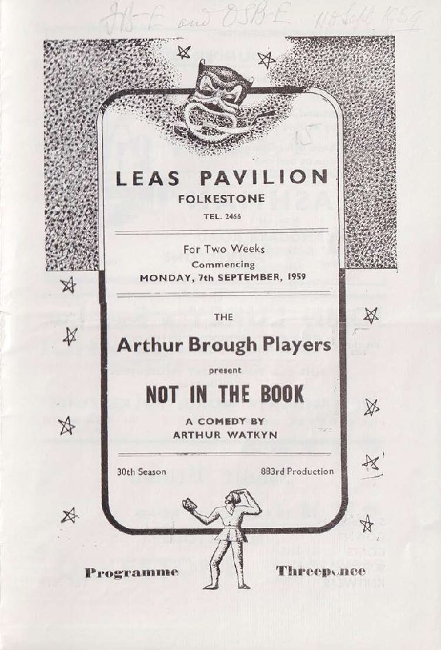 Programme for 'Not in the Book'