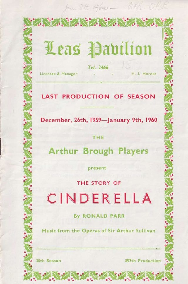 Programme for 'The Story of Cinderella'