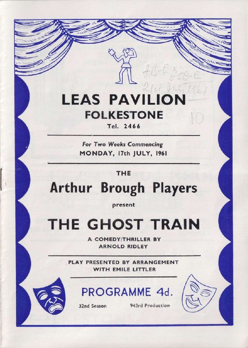 Programme for 'The Ghost Train'