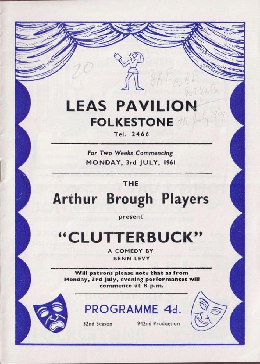 Programme for 'CLUTTERBUCK'