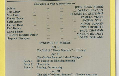 Cast list for 'Green Shutters'