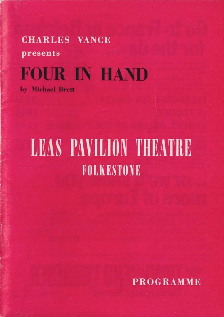 Programme for 'Four in Hand'