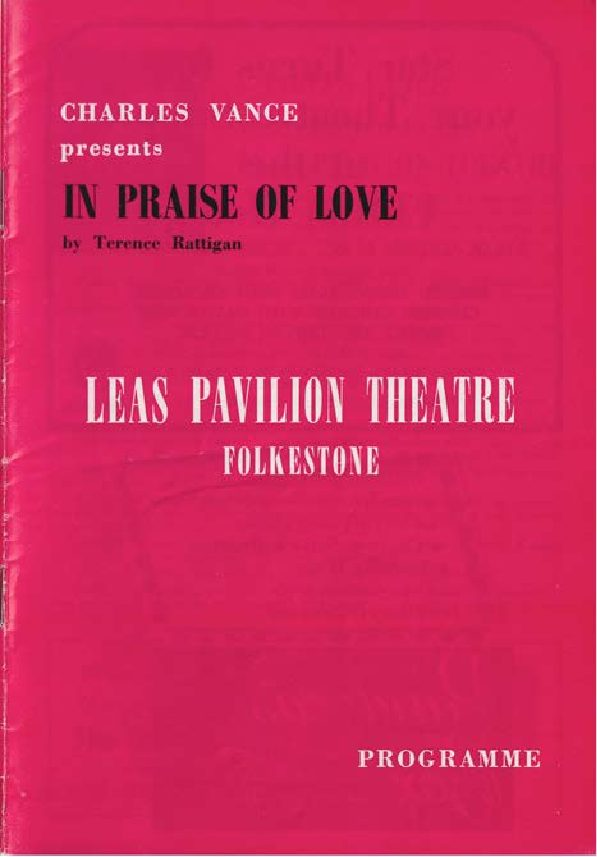 Programme for 'In Praise of Love'