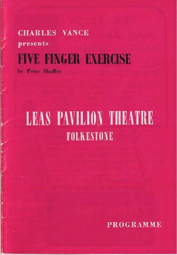 Programme for 'Five Finger Exercise'