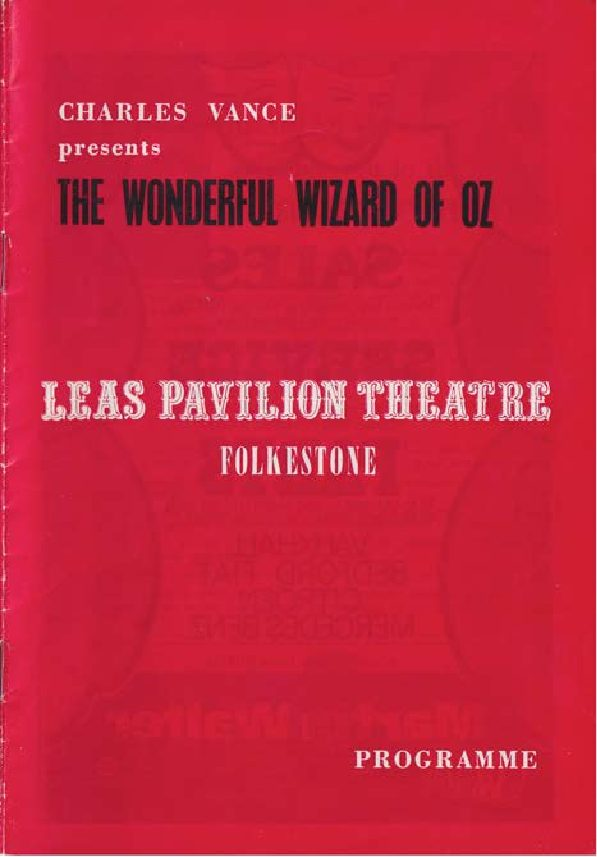 Programme for 'The Wonderful Wizard of Oz'