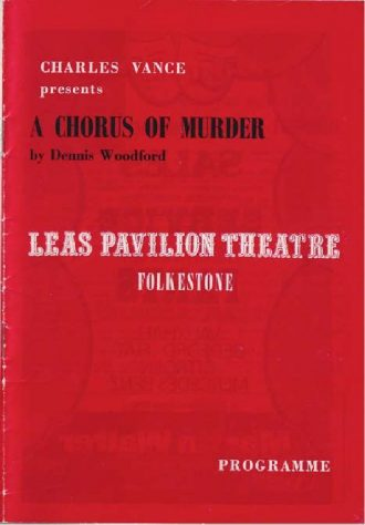 Programme for 'A Chorus of Murder'